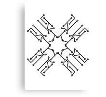 technology line connection microchip datentechnik electronics cool design robot cyborg pattern star cross x Canvas Print