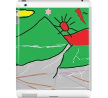 View of mountains landscape abstract iPad Case/Skin