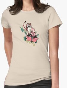 Calvin And Hobbes Fast Womens Fitted T-Shirt