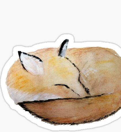 Sleeping Fox Sticker
