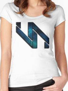 Vaporization Nation - Edgy Logo Women's Fitted Scoop T-Shirt