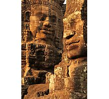 Bayon Temple faces Photographic Print