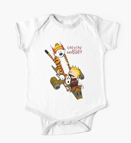 Calvin and Hobbes : Superjet One Piece - Short Sleeve