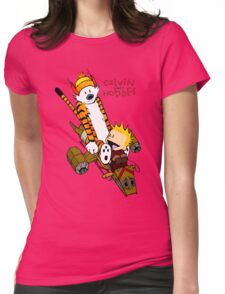 Calvin and Hobbes : Superjet Womens Fitted T-Shirt