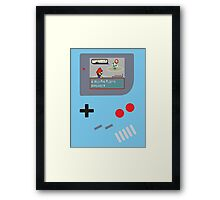 Gameboy Super PokéPlumbers  Framed Print