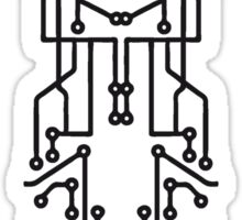 technology line connection microchip datentechnik electronics cool design robot cyborg Sticker