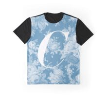 'C' Letter, Vintage Literary Print Graphic T-Shirt