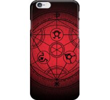 transmutation halftone circle iPhone Case/Skin