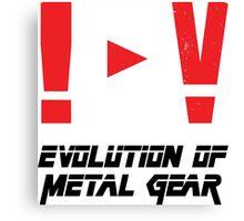 Evolution of Metal Gear Canvas Print