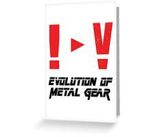 Evolution of Metal Gear Greeting Card