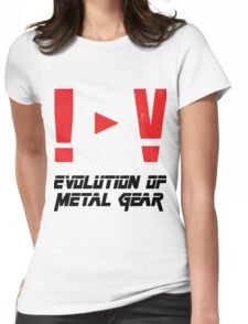 Evolution of Metal Gear Womens Fitted T-Shirt