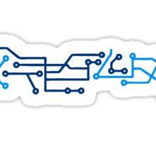 technology line connection microchip datentechnik electronics cool design Sticker