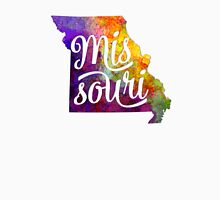 Missouri US State in watercolor text cut out T-Shirt
