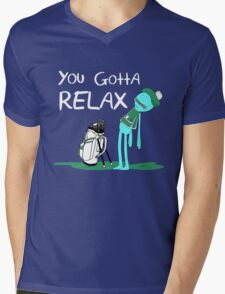 Mr. Meeseeks Quote T-shirt - You Gotta Relax Mens V-Neck T-Shirt