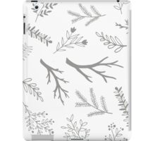 Grey cute branches pattern iPad Case/Skin