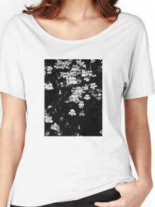 Trumpet Flowers (Black & White) Women's Relaxed Fit T-Shirt