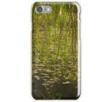 The willow, the lilies, the rain iPhone Case/Skin