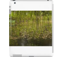 The willow, the lilies, the rain iPad Case/Skin