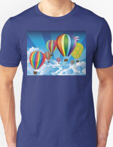 Air Balloons in the Sky Unisex T-Shirt