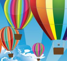 Air Balloons in the Sky Sticker