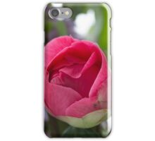Dark Pink Camellia bud  iPhone Case/Skin