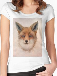 Vulpes vulpes - Red Fox Women's Fitted Scoop T-Shirt