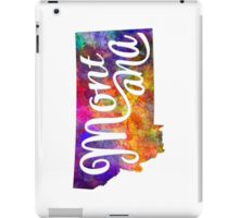 Montana US State in watercolor text cut out iPad Case/Skin