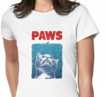 Crazy Cat Meow Paws  Womens Fitted T-Shirt
