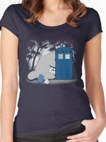 Totoro My Neigbour,Dr Who Women's Fitted Scoop T-Shirt