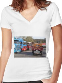 Classic Commercial Lorries  Women's Fitted V-Neck T-Shirt