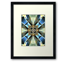 Blue, Green And Gold Abstract Framed Print