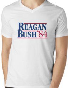 Reagan Bush Mens V-Neck T-Shirt