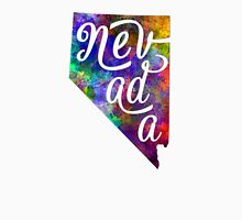 Nevada US State in watercolor text cut out T-Shirt
