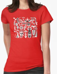 Cubista Black & White Womens Fitted T-Shirt