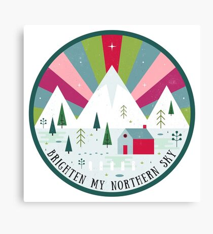 Brighten My Northern Sky  Canvas Print