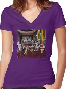 Art Deco Night Club Women's Fitted V-Neck T-Shirt