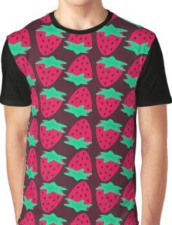 Strawberry Pattern Graphic T-Shirt