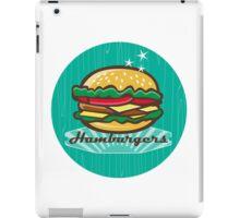 Retro 1950s Diner  Hamburger Circle iPad Case/Skin
