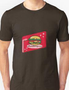 Retro 1950s Diner Hamburger Sign T-Shirt