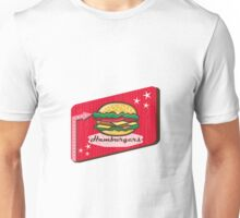 Retro 1950s Diner Hamburger Sign Unisex T-Shirt