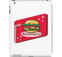Retro 1950s Diner Hamburger Sign iPad Case/Skin