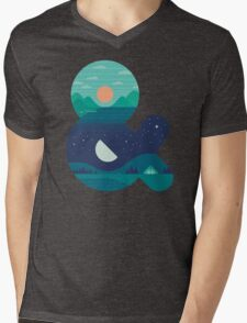 Day & Night Mens V-Neck T-Shirt