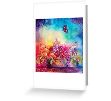 THUMBELINA,FLOWER BASKET AND BUTTERFLY Greeting Card