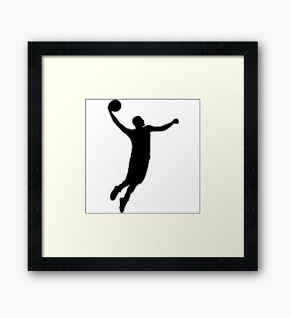 Basketball logo number 12 Framed Print