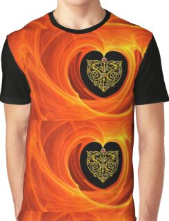 GOLDEN LEAF IN ORANGE YELLOW AND BLACK Graphic T-Shirt
