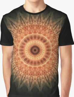 Mandala in red and peach tones Graphic T-Shirt