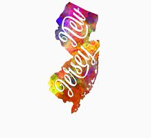 New Jersey US State in watercolor text cut out T-Shirt