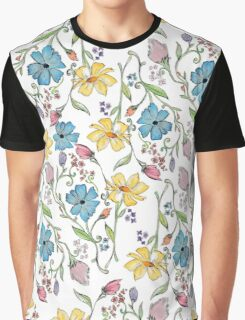 Spring flowers pattern in watercolor Graphic T-Shirt