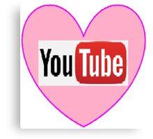 I heart YouTube Canvas Print