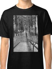 Escalier - Montmartre - Paris Black and White Classic T-Shirt